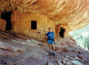Monty at the Ruins in Mule Shoe Canyon
