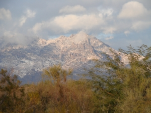 Santa Catalina Mountains from Our House