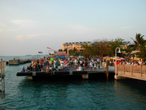 Celebrating Sunset at Mallory Square, Key West